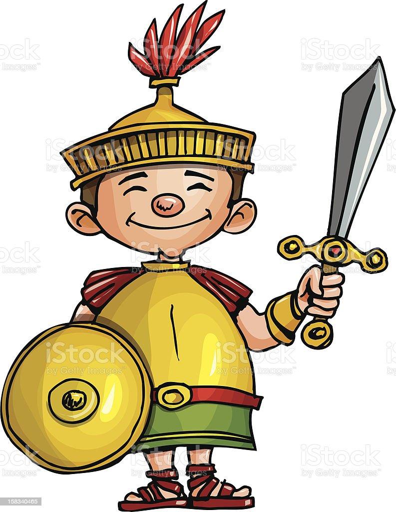 Cute Cartoon Roman Legionary royalty-free cute cartoon roman legionary stock vector art & more images of army helmet