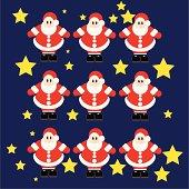 cute cartoon Santa Claus collection