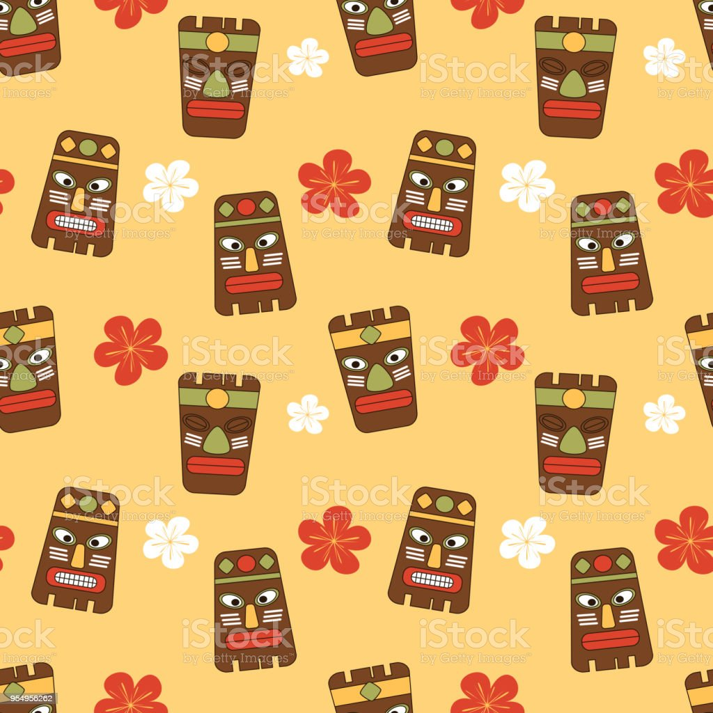 Cute Cartoon Seamless Vector Pattern Background Illustration With