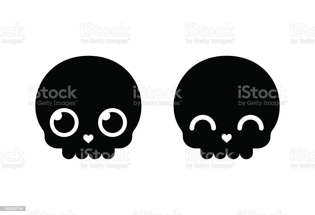 cute cartoon skull stock vector art more images of 2015 493840794 rh istockphoto com cartoon skeleton head clip art cartoon skeleton hand