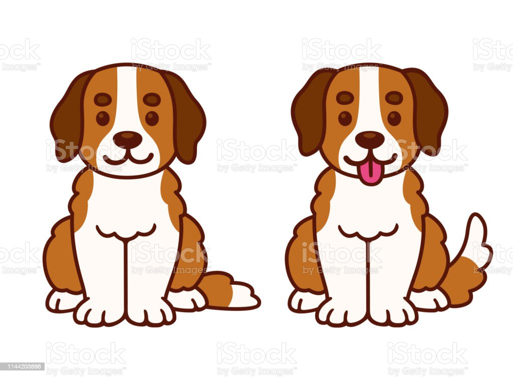 Cute Cartoon St Bernard Puppy Stock Illustration Download Image Now Istock