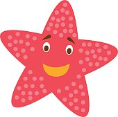 Cute cartoon starfish vector illustration