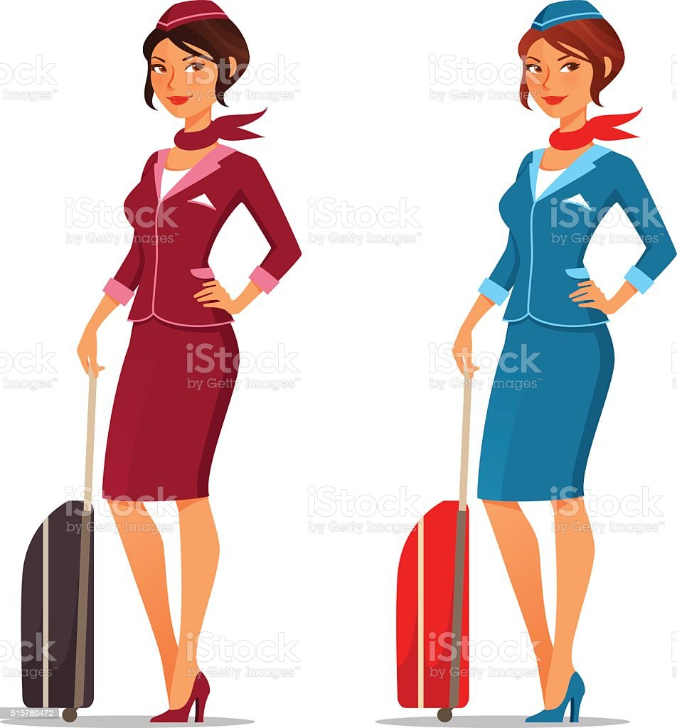 Royalty Free Air Stewardess Clip Art, Vector Images ...