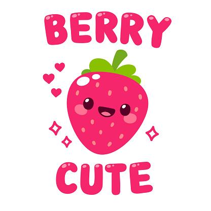 Cute cartoon strawberry