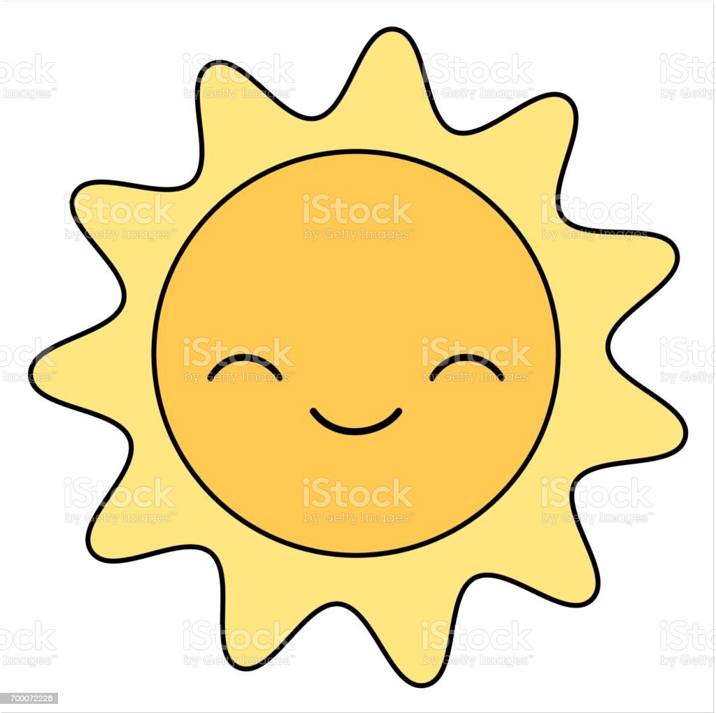 cute cartoon sun smiling isolated on white background vector rh istockphoto com free vector cartoons ready to animate free vector cartoon map