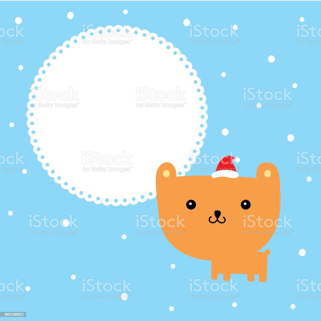 cute cartoon teddy bear merry christmas greeting card vector royalty-free cute cartoon teddy bear merry christmas greeting card vector stock illustration - download image now