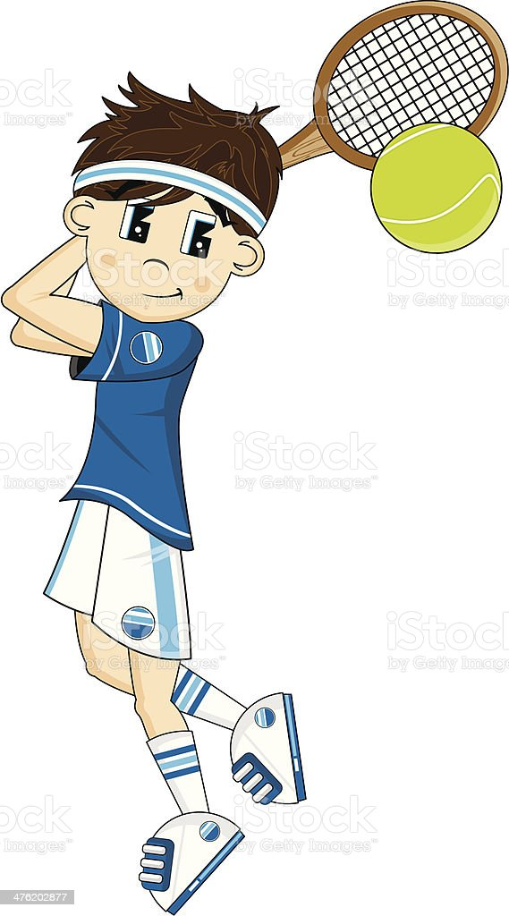Cute Cartoon Tennis Boy royalty-free cute cartoon tennis boy stock vector art & more images of alphabet