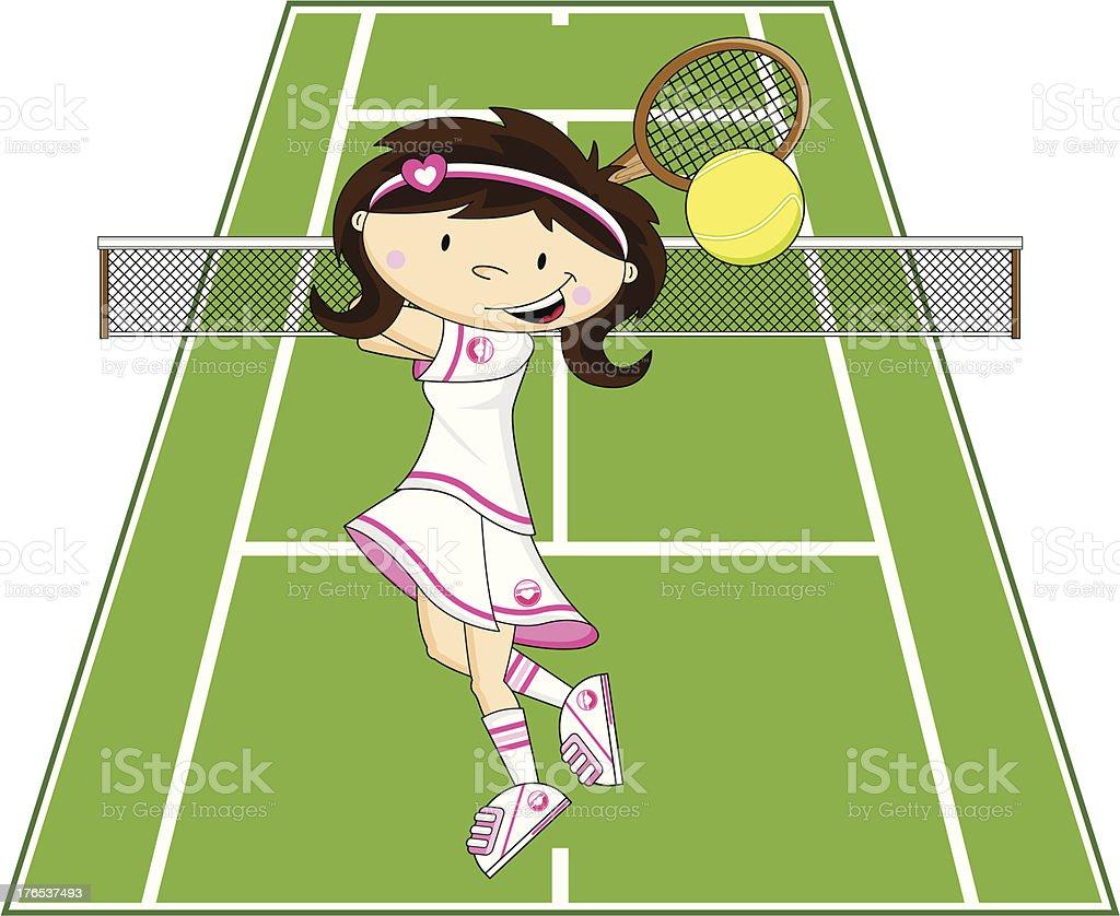 Cute Cartoon Tennis Girl royalty-free cute cartoon tennis girl stock vector art & more images of adult