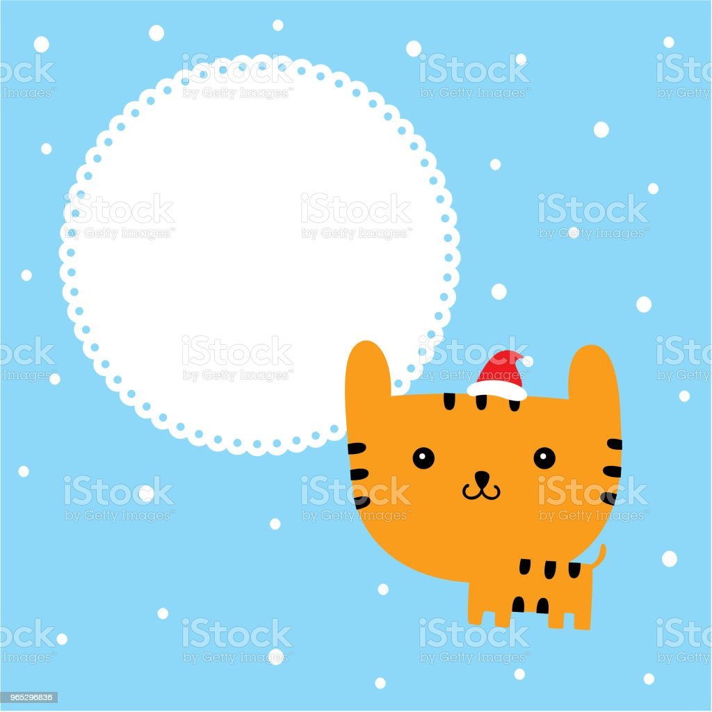 cute cartoon tiger merry christmas greeting card vector royalty-free cute cartoon tiger merry christmas greeting card vector stock vector art & more images of anniversary