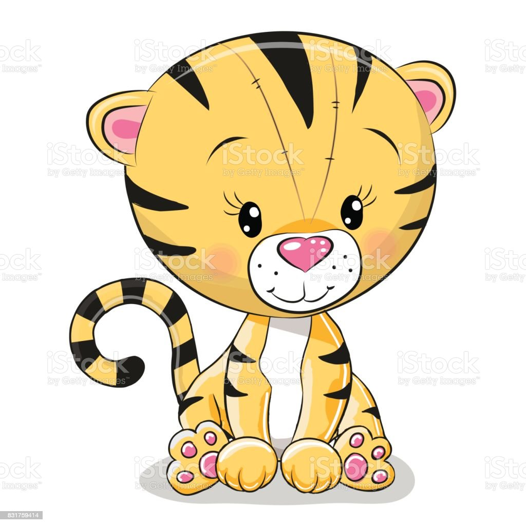 cute cartoon tiger stock vector art 831759414 istock