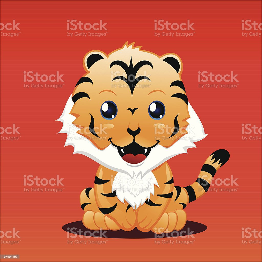 Cute Cartoon Tiger royalty-free cute cartoon tiger stock vector art & more images of animal