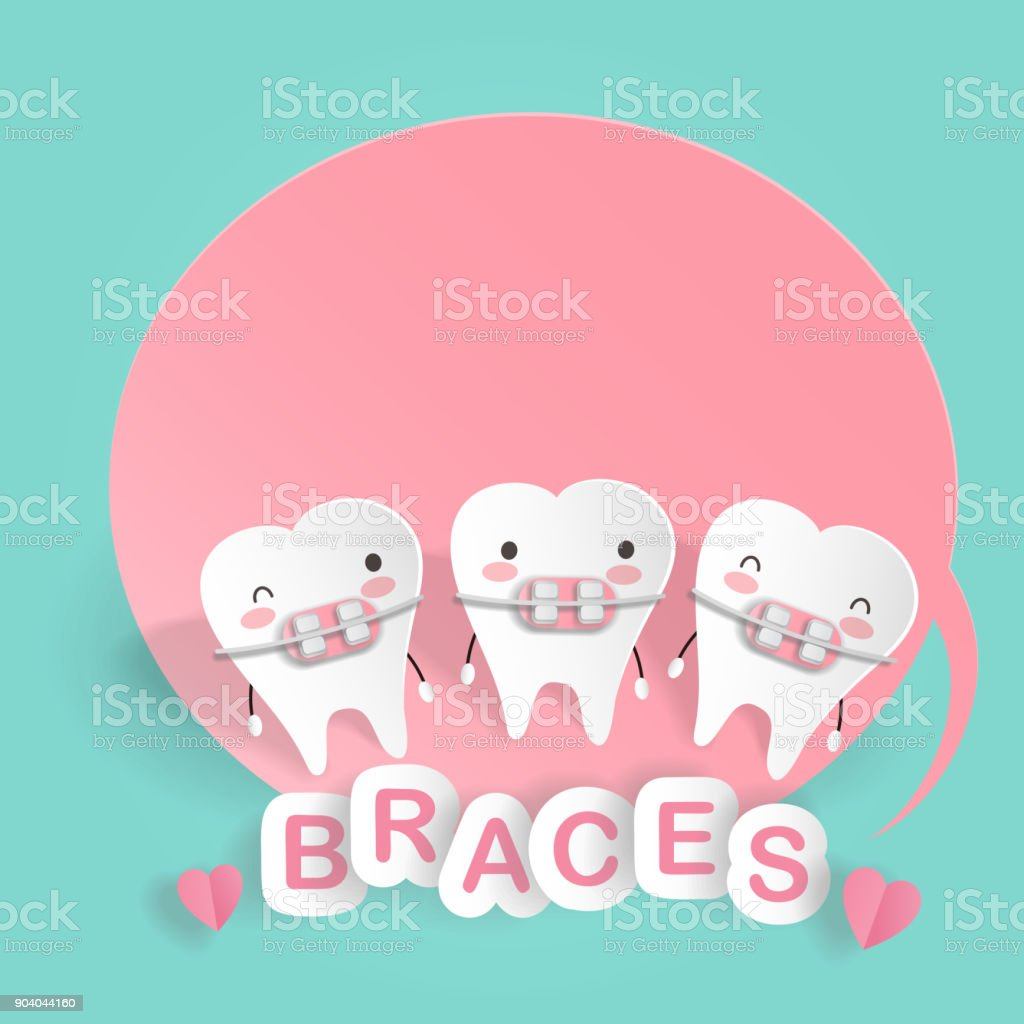 cute cartoon tooth vector art illustration