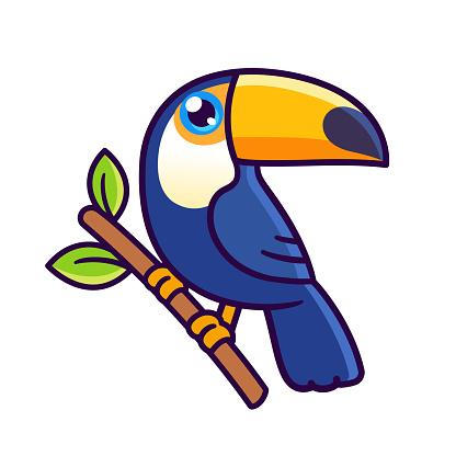 Cute cartoon toucan drawing