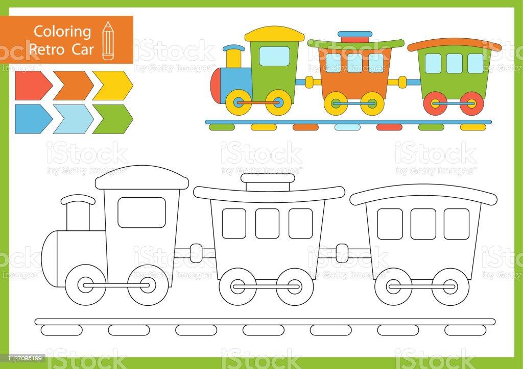 Sevimli Cizgi Tren Cocuklar Icin Cizim Calisma Cocuk Resmi Komik