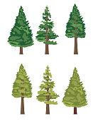 istock Cute Cartoon Tree 1058444884