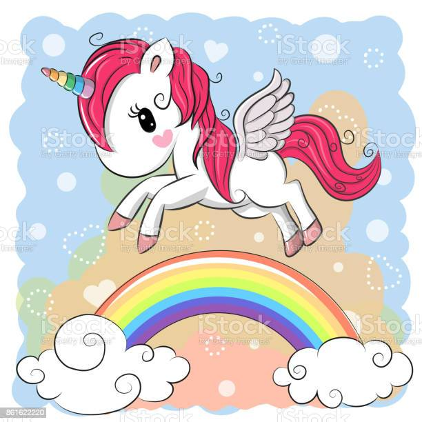 Cute cartoon unicorn and rainbow vector id861622220?b=1&k=6&m=861622220&s=612x612&h=nx74ljgq8kygfp k ykoe45sueziwy91hc6jdxrlllg=