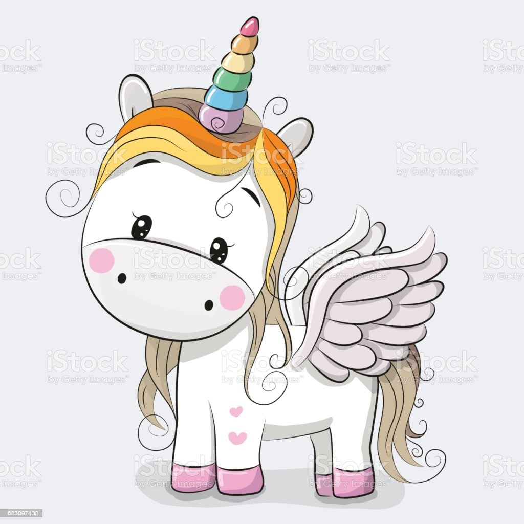 Cute Cartoon Unicorn Stock Vector Art & More Images of ...