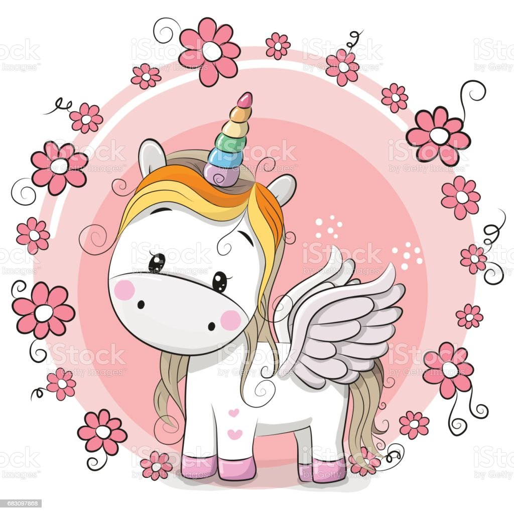 cute cartoon unicorn stock vector art amp more images of