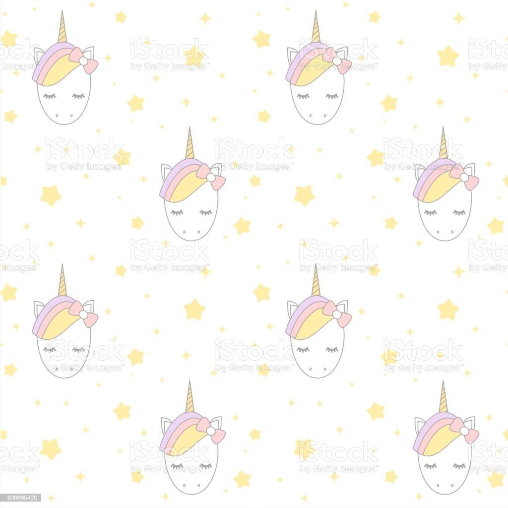 Ilustración de Unicornio De Dibujos Animados Lindo Con Ilustración ...