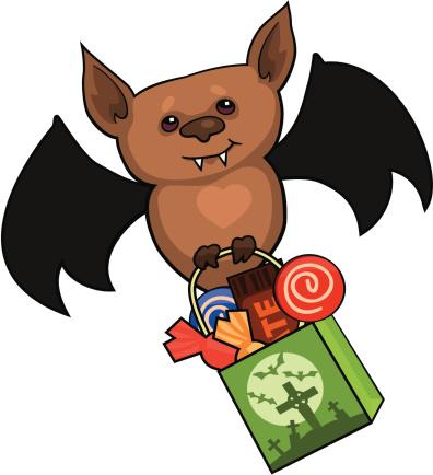 Cute Cartoon Vampire Bat
