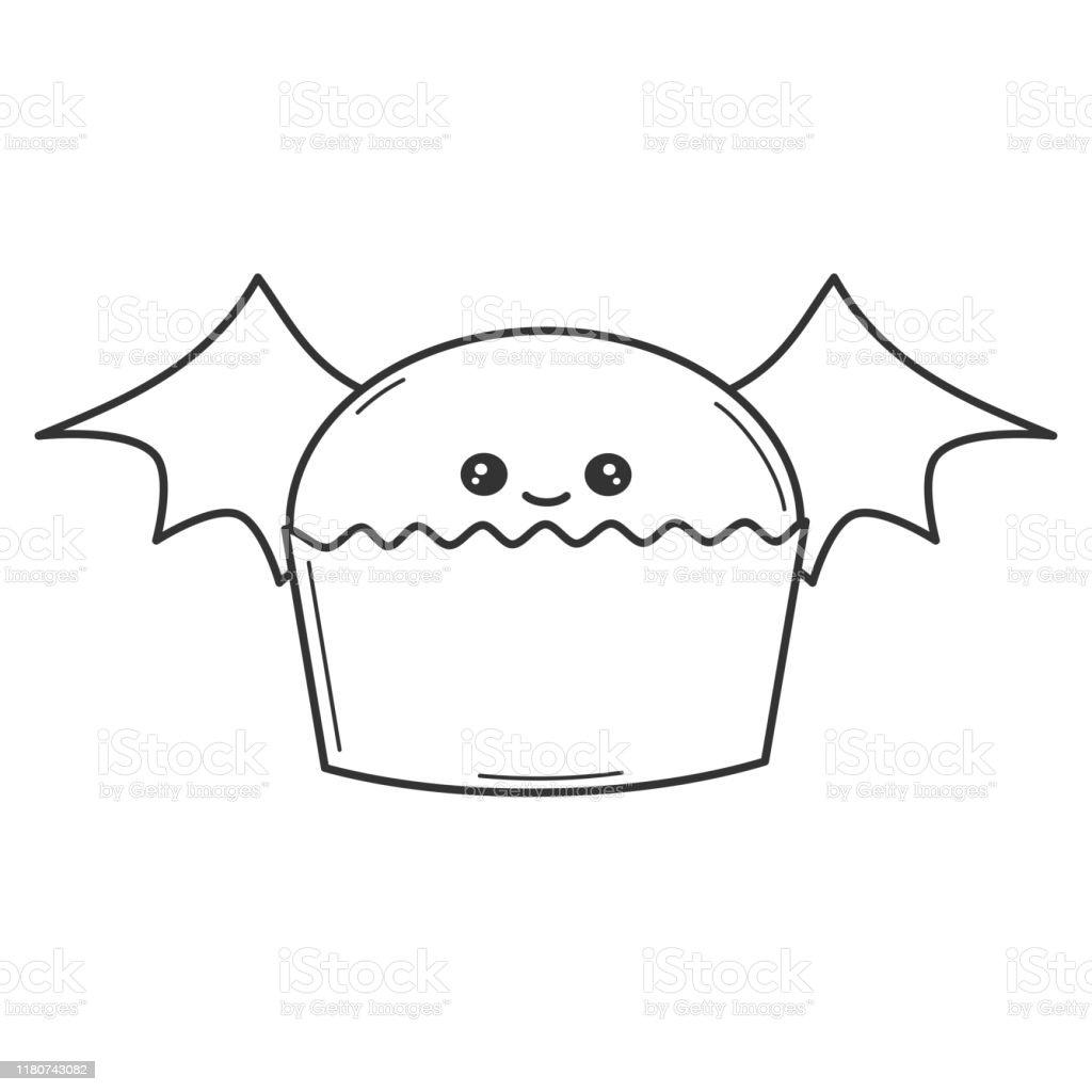 Ilustracion De Lindo Vector De Dibujos Animados Blanco Y Negro