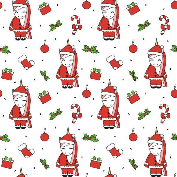 Vectores de Navidad Dibujo Colorido Calcetines Patrón Sin Costuras ...