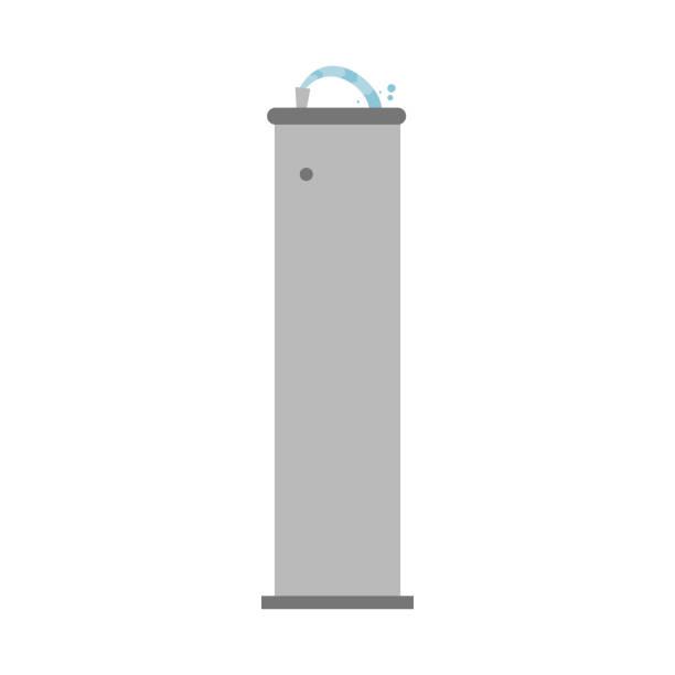 cute cartoon vector illustration of a drinking fountain - fontanna stock illustrations