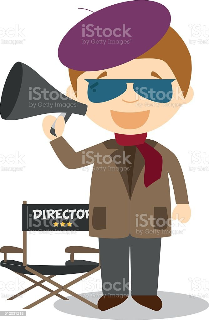 royalty free film director clip art vector images illustrations rh istockphoto com film director clipart direction clip art