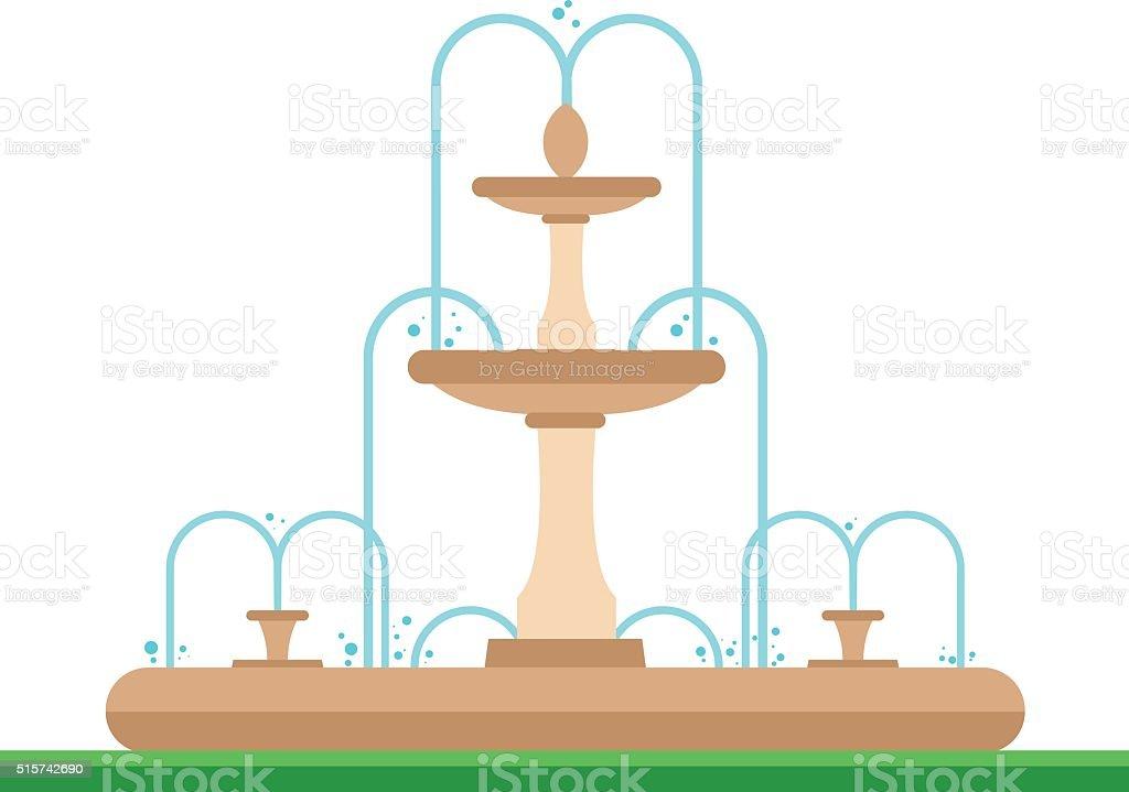 royalty free fountain clip art vector images illustrations istock rh istockphoto com chocolate fountain clip art fountain clipart black and white