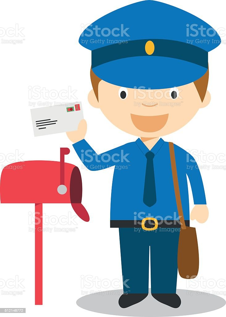 royalty free mailman clip art vector images illustrations istock rh istockphoto com mailman bag clipart mailman clipart black and white