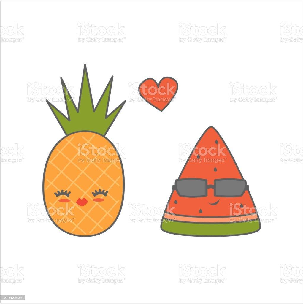 meilleure vente style limité nouvelle saison Tranche De Melon Deau Dessin Animé Mignon Avec Lunettes De ...