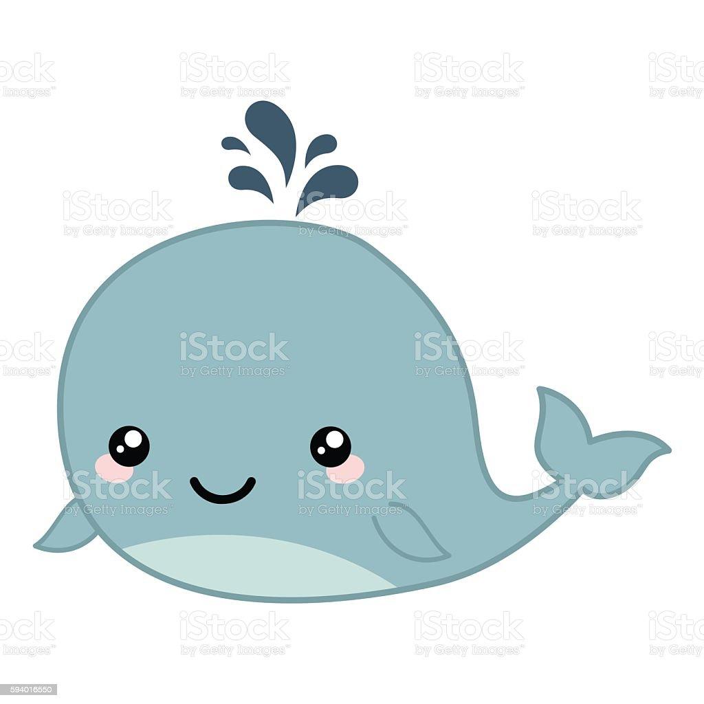 cute cartoon whale royalty free stock vector art