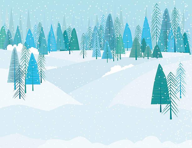 かわいい漫画の冬の snowstrom 森林 - 冬点のイラスト素材/クリップアート素材/マンガ素材/アイコン素材