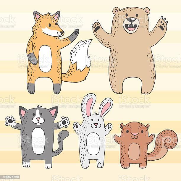 Cute cartoon woodland creatures vector id466575758?b=1&k=6&m=466575758&s=612x612&h=yhazhdagscgqlgs  vizr4imi0dalrgctrvt2gdemvu=