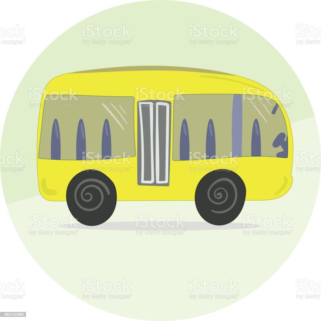 Cute Cartoon Yellow Bus Icon cute cartoon yellow bus icon - immagini vettoriali stock e altre immagini di affari royalty-free