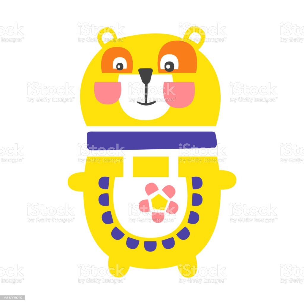Cute cartoon yellow teddy bear standing. Funny lovely animal colorful character vector Illustration royalty-free cute cartoon yellow teddy bear standing funny lovely animal colorful character vector illustration stock vector art & more images of animal