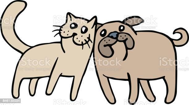 Cute cat and dog friendship vector illustration vector id846135034?b=1&k=6&m=846135034&s=612x612&h=mouxjokf8wwmu9chmk7gqh8mwd3zyo1yp7z7 y4mzzi=