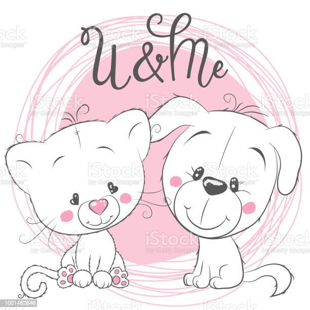 Cute cat and dog on a pink background vector id1001462646?b=1&k=6&m=1001462646&s=612x612&h=hquqw9cbroijesop4yfgmg5vvto5hbbb9fvzgqt4blo=