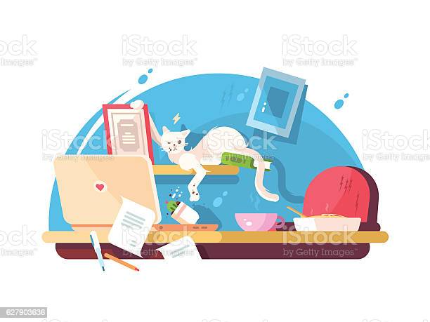 Cute cat and mess in workplace vector id627903636?b=1&k=6&m=627903636&s=612x612&h=5d9iqm5tbx6h2rrtc n23vx6bymsesj2fyr2sw2be1a=
