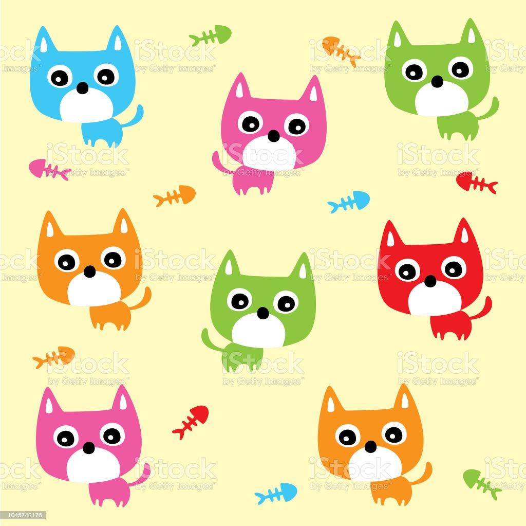 かわいい猫の赤ちゃん壁紙 いたずら書きのベクターアート素材や画像を多数ご用意 Istock