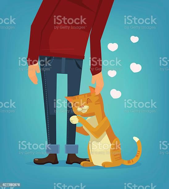 Cute cat character hug his owner vector flat cartoon illustration vector id627390976?b=1&k=6&m=627390976&s=612x612&h=ivqxj qygtrzl toz8bddw v6mxexesruhtxwrslidg=
