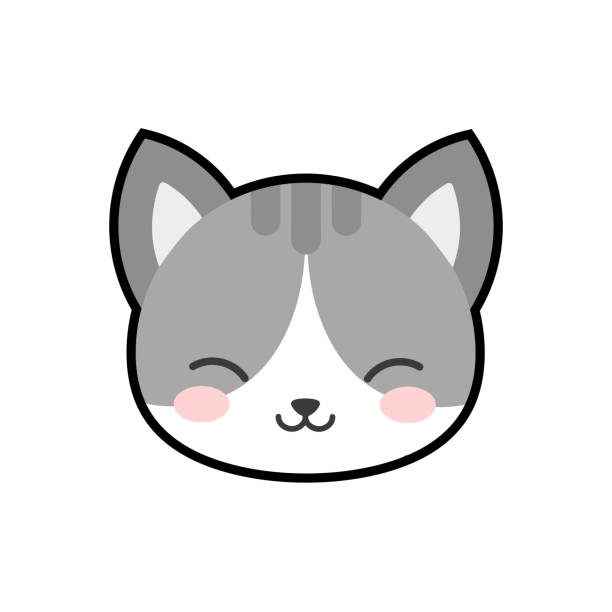 stockillustraties, clipart, cartoons en iconen met schattig cat karakter kitty vector design - miauwen