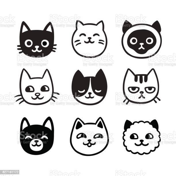 Cute cat doodle set vector id827161172?b=1&k=6&m=827161172&s=612x612&h=jccnlre1eq6hre15hrl4nr197islo48ay7c ehrxjrq=