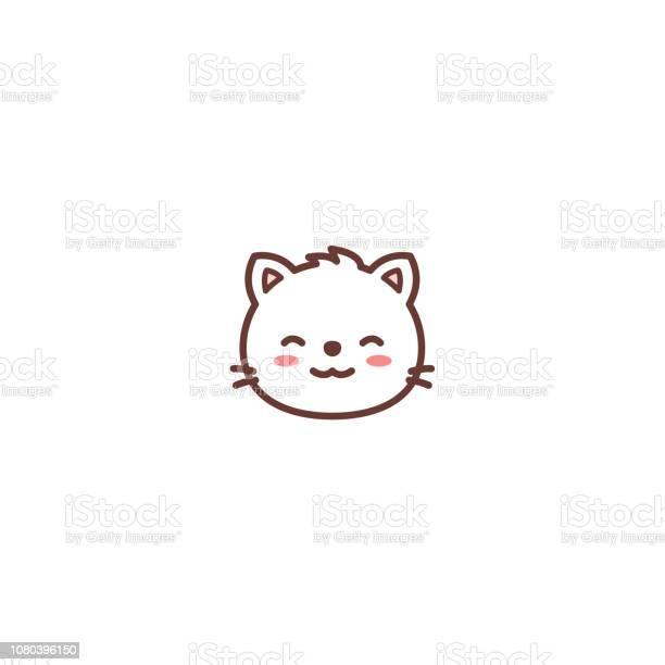 Cute cat face cartoon icon vector illustration vector id1080396150?b=1&k=6&m=1080396150&s=612x612&h=fr3q38ljc1kkhfuagc0sj4gy1ffry14sqo2nmye miu=