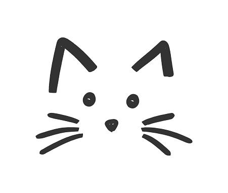 Cute cat face icon