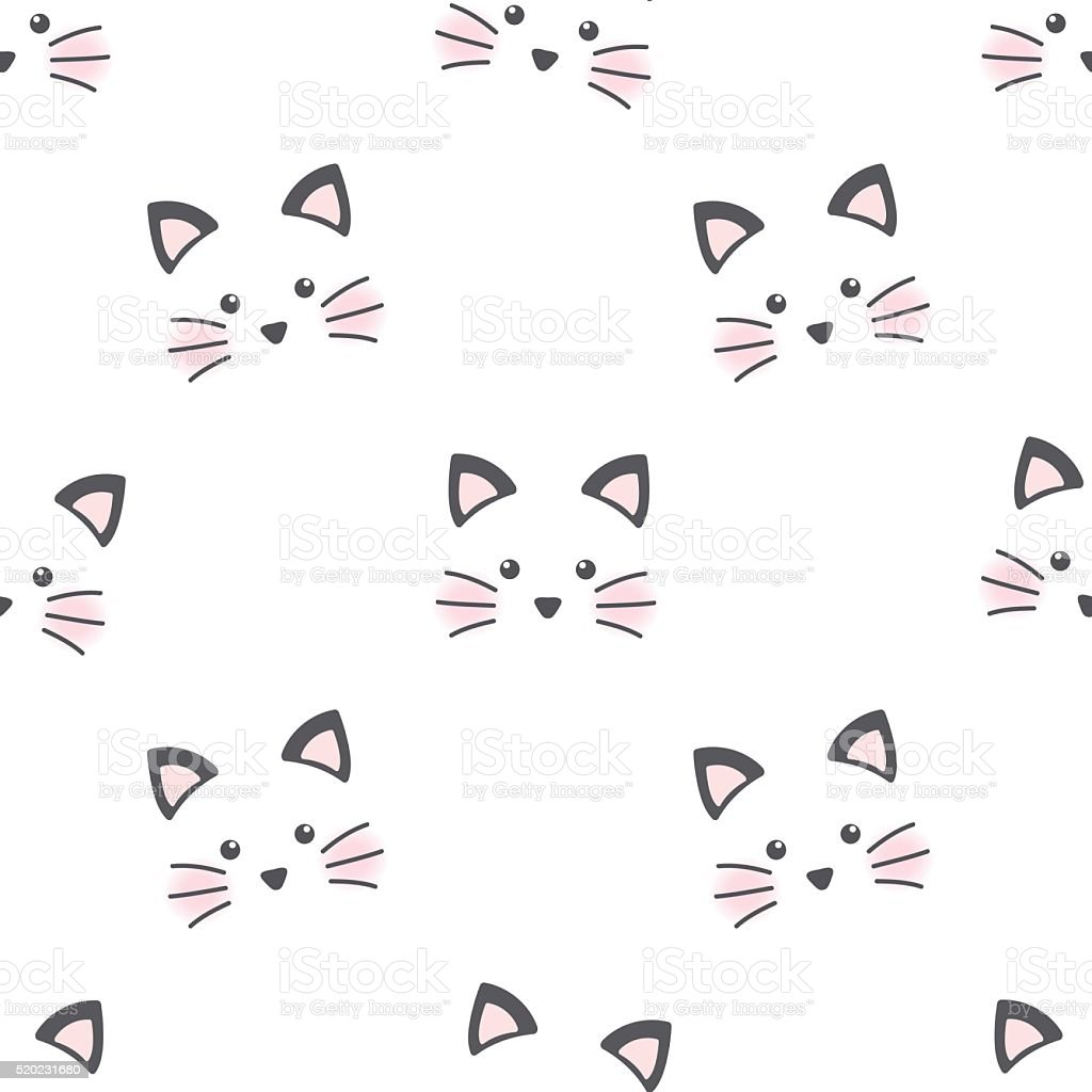 cute cat face stock vector art amp more images of animal
