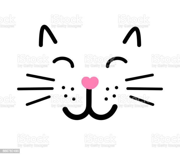 Cute cat face vector illustration vector id886782490?b=1&k=6&m=886782490&s=612x612&h=juoshufulubhgzr3xz5sjjsyzeo9pmikwhsxo8xsl6o=