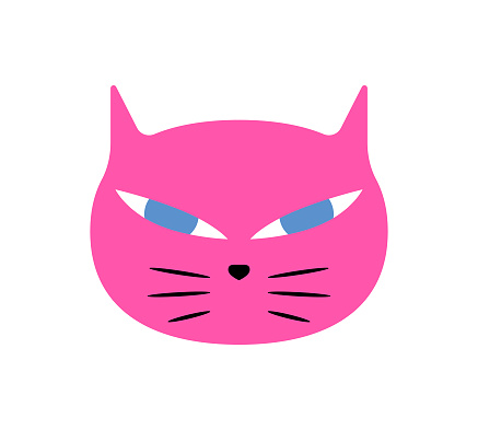 Cute cat flat design