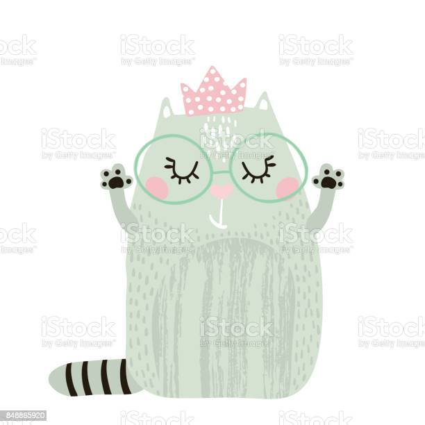 Cute cat girl with crown isolated on white childish print for apparel vector id848865920?b=1&k=6&m=848865920&s=612x612&h=bcqnchnhofsw4nlhv0ptc2pknemepdpjwy6n8 4agga=