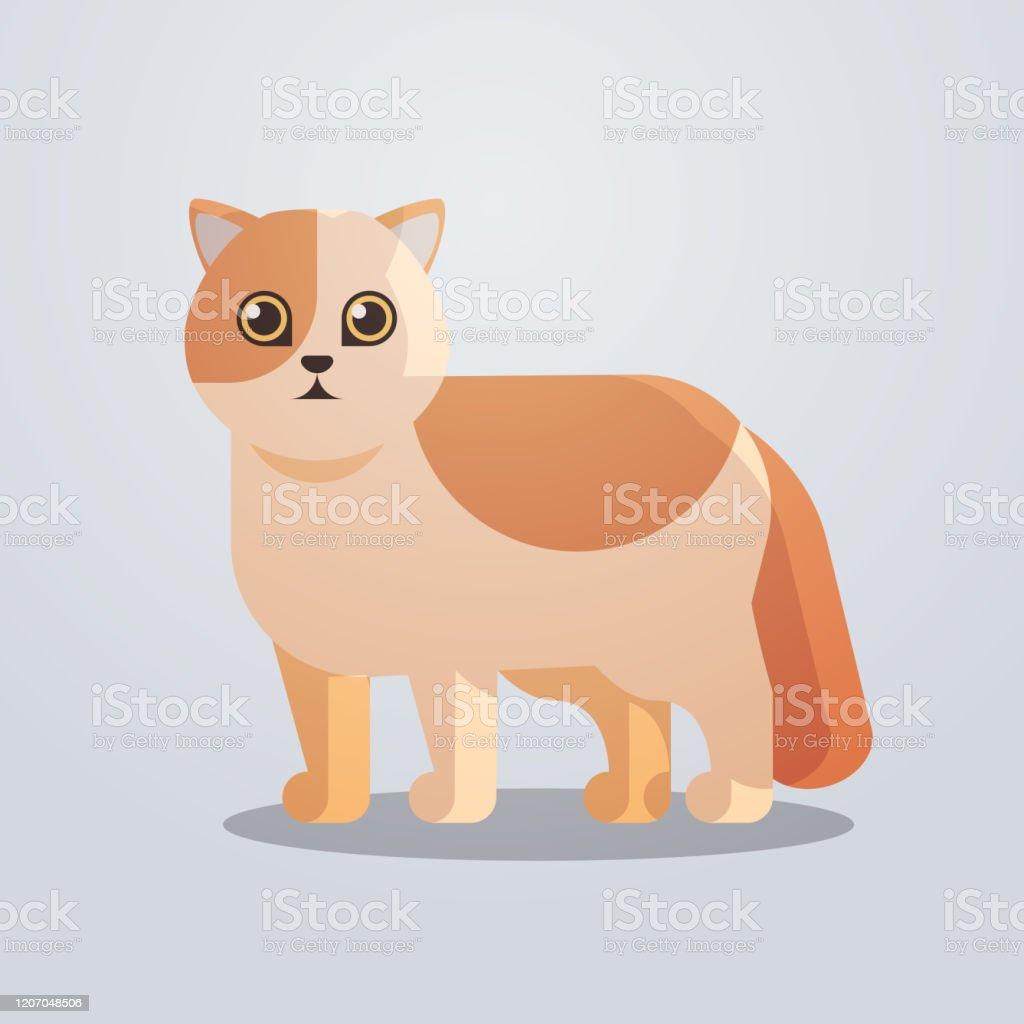 Vetores De Icone Gato Fofo Fofo Fofo Desenho Animado Animal Animal